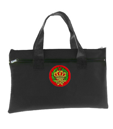 Image of Amaranth Black OES Tote bag for Order of the Eastren Star - Colorful Crownand Wreath Round Classic Icon