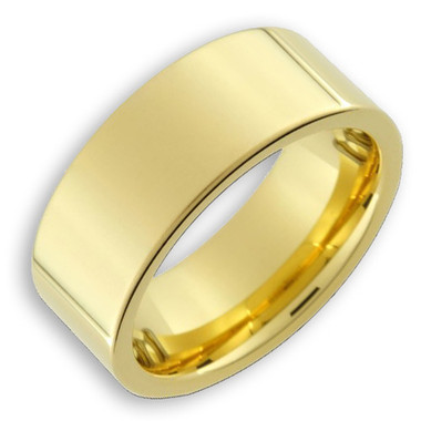 Image of Men's Tungsten Ring (14K Gold Plated 8MM band). Also great as a men's wedding ring band.