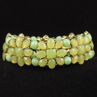 Monet Green Tone Stretch Bracelet