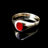 9ct Gold Carnelian Ring, Size S
