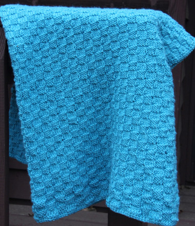 Free Loom Knitting Patterns For Blankets : Basket Weave Blanket - http://www.knittingboard.com/