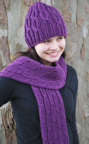 Cabled Hat and Scarf