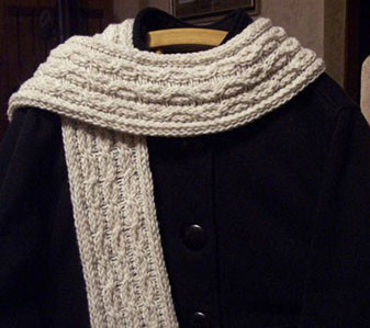 Cables and Lace Scarf - http://www.knittingboard.com/