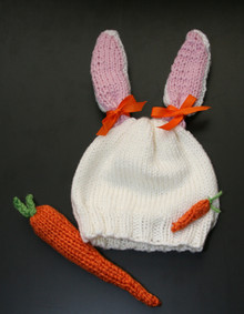 Rabbit Hat and Carrot Rattle