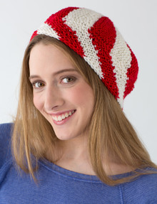 Candy Stripe Beret