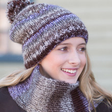 Slouchy Double Knit Hat & Scarf