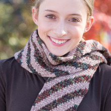Diagonal Stripe Scarf