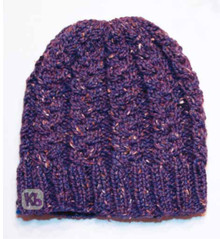 Tweed Cable Beanie