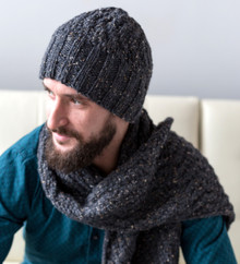 Men's Cable Hat and Scarf