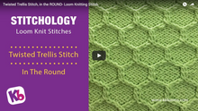 Twisted Trellis Stitch (In the Round)