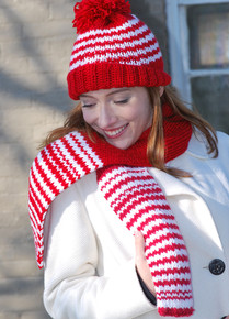 Candy Cane Hat & Scarf