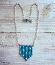 Handmade Boho Style Turquoise Bead Necklace