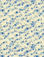 Hanko Designs Blue Kikyou Blossoms Washi paper