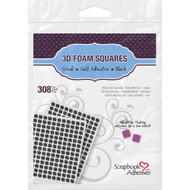"Scrapbook Adhesives 3D foam squares black .25x.25"" 308/pkg"
