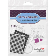 Scrapbook Adhesives 3D Foam Squares Black Variety Pack