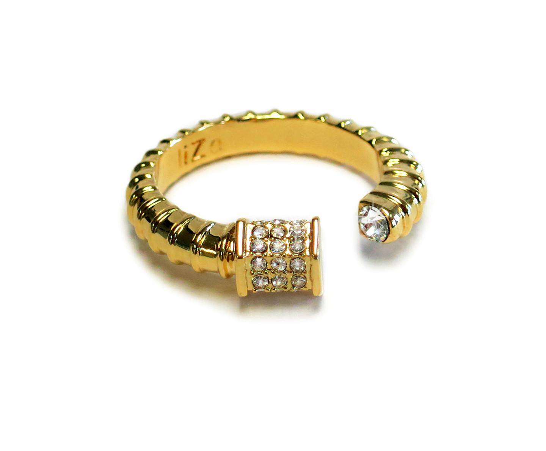 Royal Screw Gold Ring