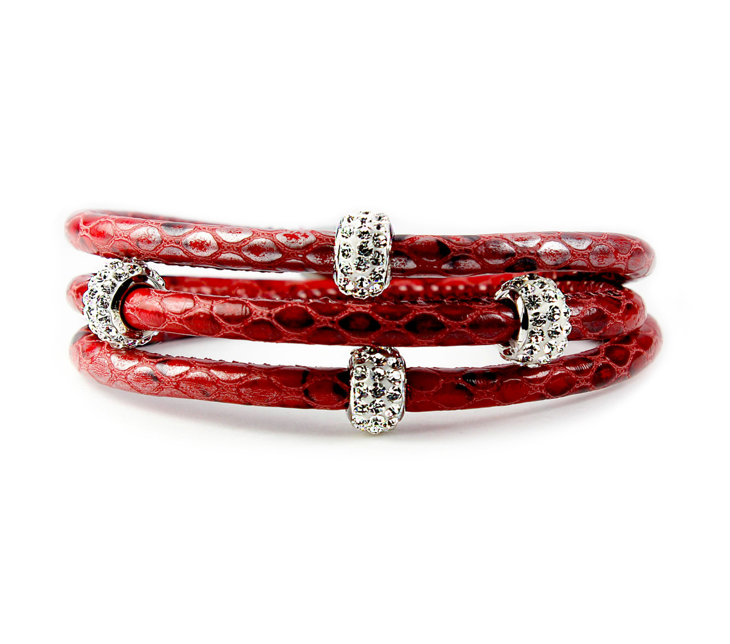 SOBE Red Snake Bedazzle Triple Wrap