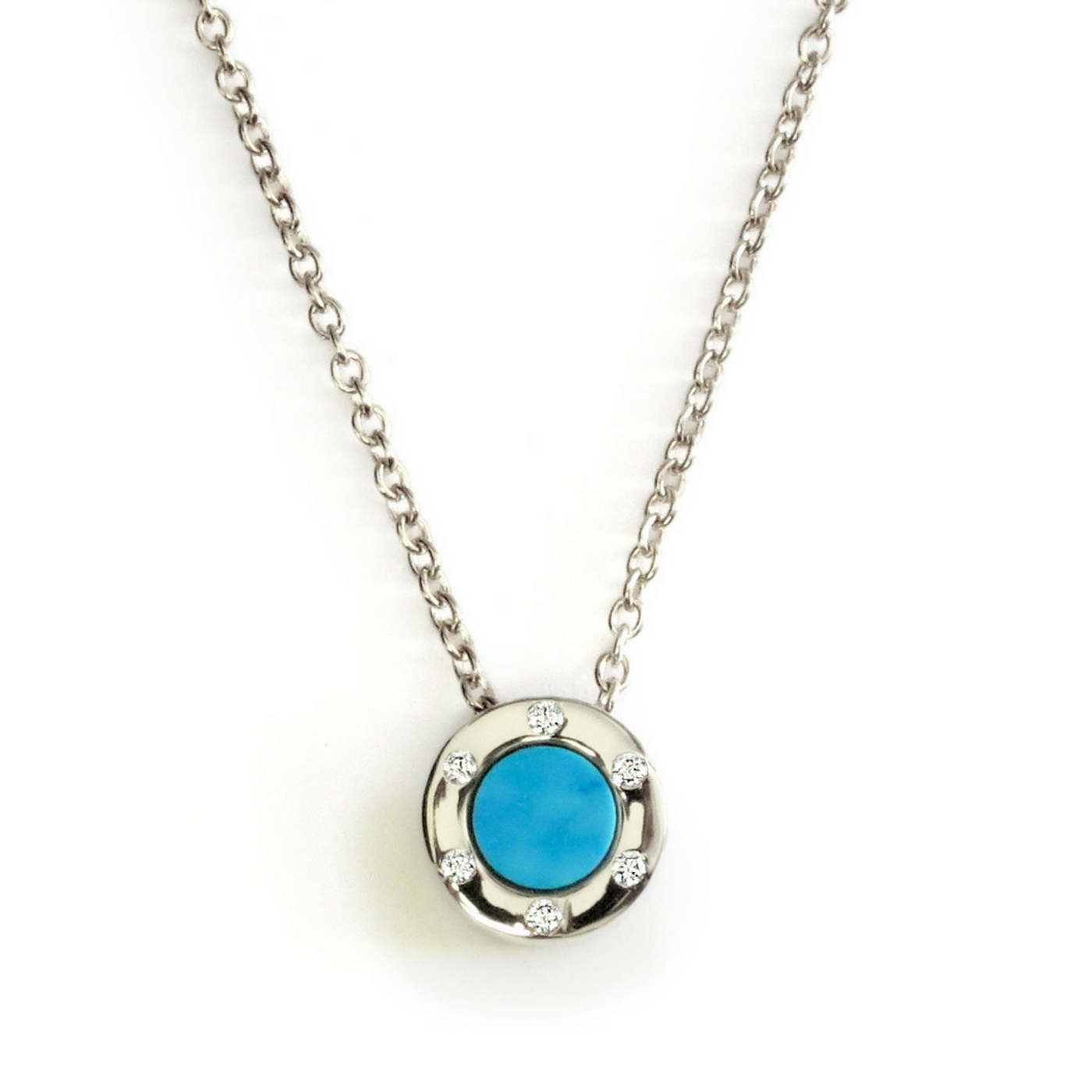 Touch Monte Carlo Aqua Necklace Silver