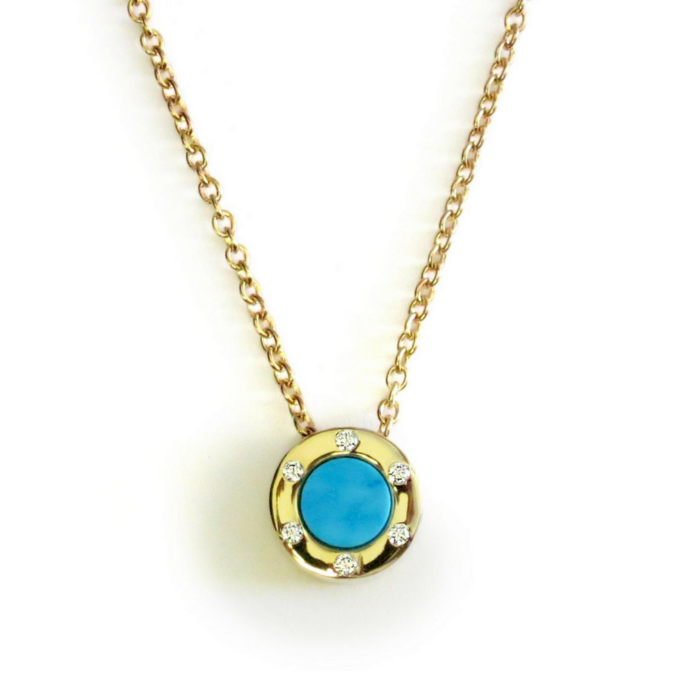 Touch Monte Carlo Aqua Necklace Gold