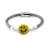 "The ""Love Struck"" Smiley Bracelet: Kids"