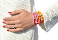 Our Triple wrap Neons are bright and positive. The have a good feeling and are made out of quality Nappa leather complimented with sparkling crystal beads. Neon is hot winter ,spring and summer.