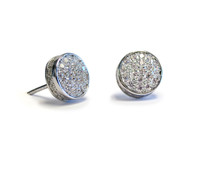 Touch Solar Stud Earring Silver