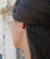 Silver Lunar Mooner Earrings