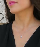 Silver Delicate Hamsa Necklace