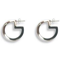 Pac-Man Hoop Earrings Silver
