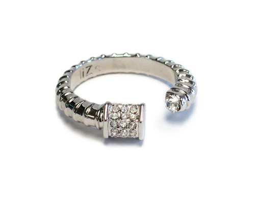 Royal Screw Silver Ring