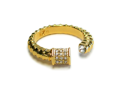 Royal Screw Gold Ring