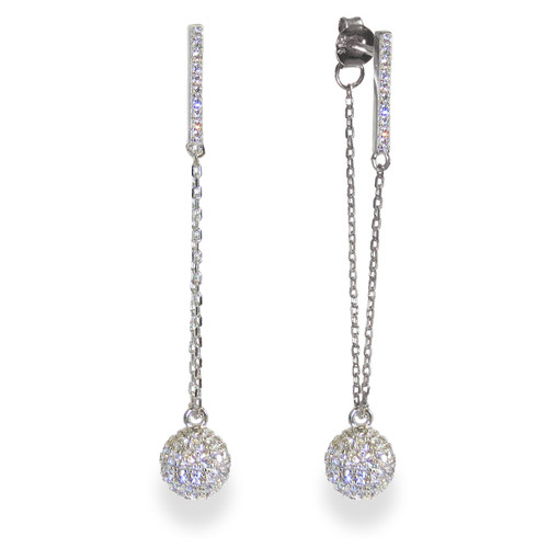 Champagne Earrings Silver