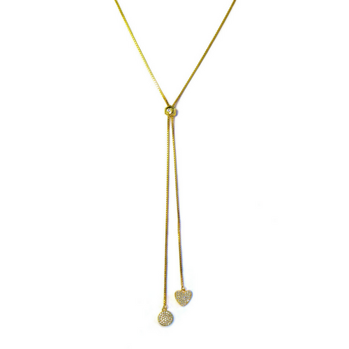 Playful Lariat Necklace Gold