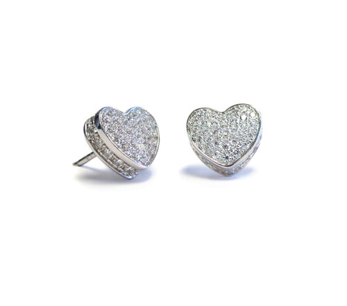 Touch My Heart Stud Earring Silver