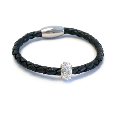 Kids Bedazzle Leather Bracelet