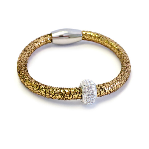 Metallic Gold Kids Leather Bracelet