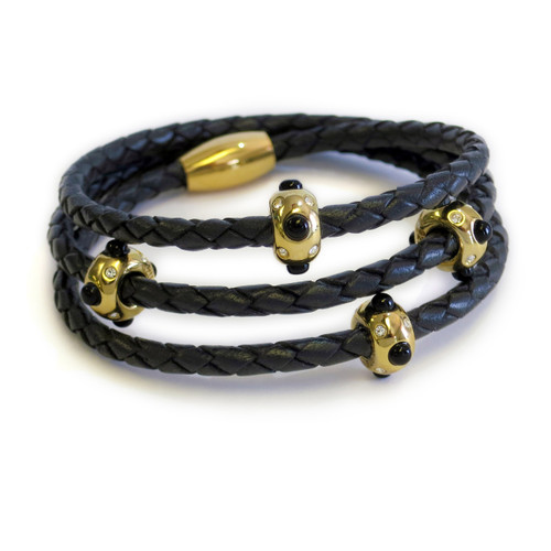 Pow Wow Onyx Gold Triple Wrap