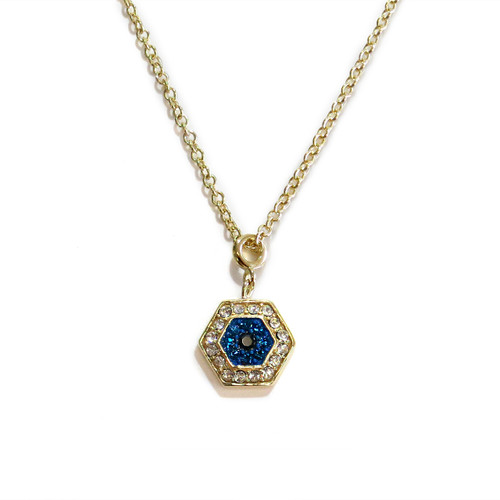 Gold Delicate Evil Eye Necklace