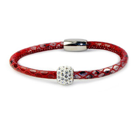 Single Red Snake Bedazzle