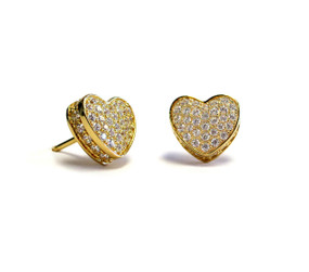 Touch My Heart Stud Earring Gold