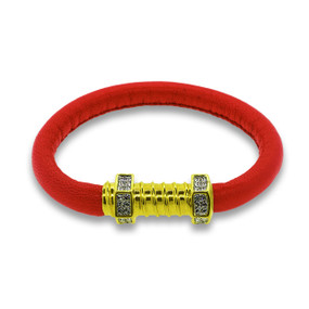 The Gold Jazz Screw in Red