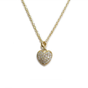 Gold Delicate Heart Necklace