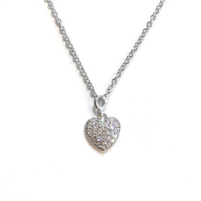 Silver Delicate Heart Necklace