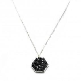Druzy Hexagon Necklace