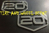 """20 INCH FP CHROME BADGES EMBLEMS RIMS WHEELS TIRES 20"""" SET OF 2 FREE SHIPPING!!"""