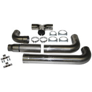 "2004.5-2007 DODGE 5.9L CUMMINS/2007.5-2009 DODGE RAM 6.7L CUMMINS MBRP S8118409 5"" XP SERIES CAT-BACK DUAL EXHAUST STACK SYSTEM"