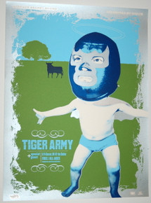 TIGER ARMY - THE SHELTER - 2007 - MYSPACE SECRET SHOW CONCERT POSTER