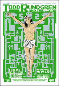 TODD RUNDGREN - LIARS - HOUSE OF BLUES - ORLANDO - 2004 -TOUR POSTER - STAINBOY