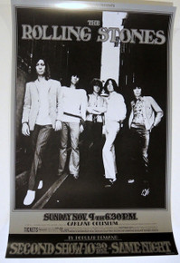 THE ROLLING STONES - RANDY TUTEN - BG 201- OAKLAND -1969 - BILL GRAHAM POSTER -