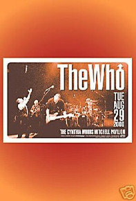 THE WHO - TOWNSNED - DALTRY - MOON - TEXAS  - POSTER